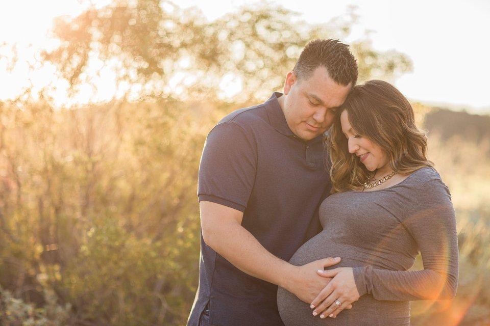 Tucson desert maternity session at JW Starr Pass Marriott