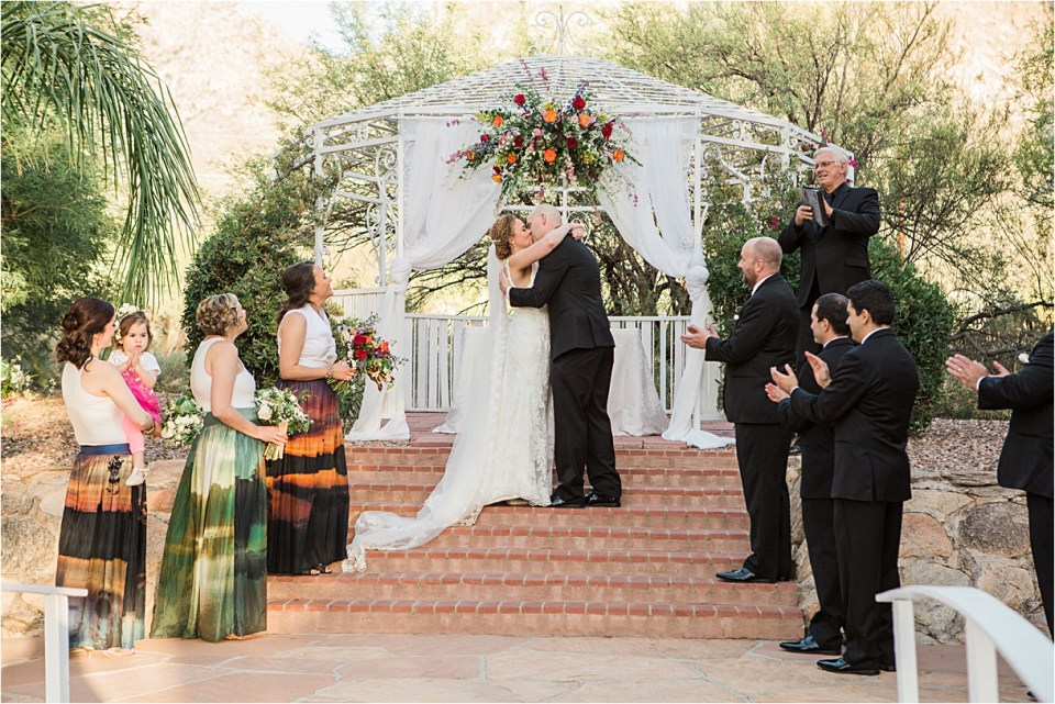 Wedding Ceremony at Reflections at the Buttes in Tucson, Arizona