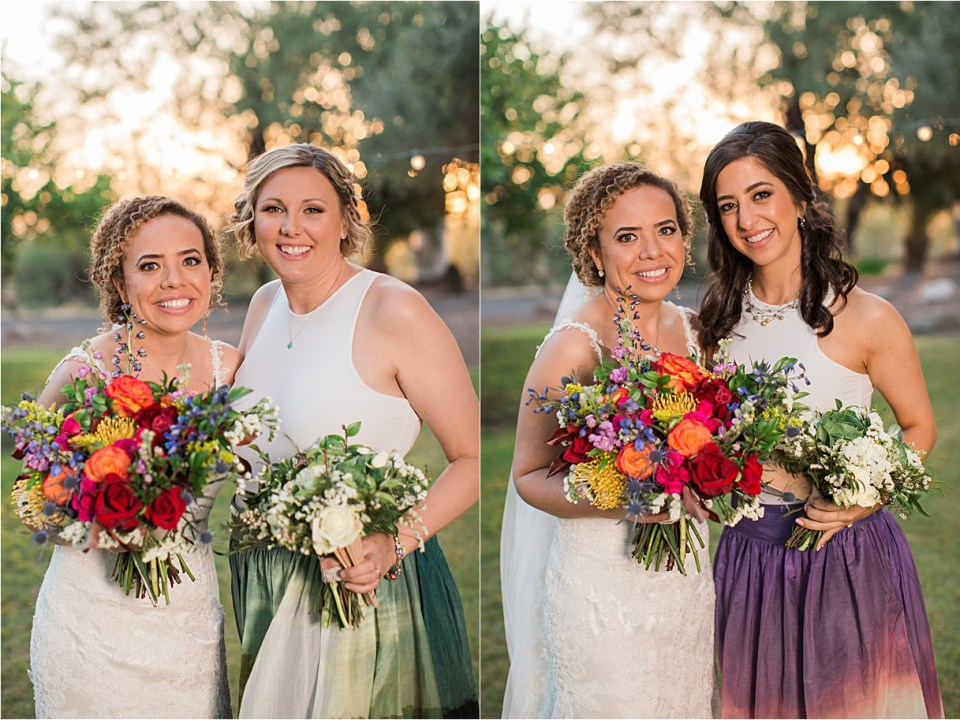 Bride with her bridesmaids at Reflections at the Buttes, Tucson, Arizona