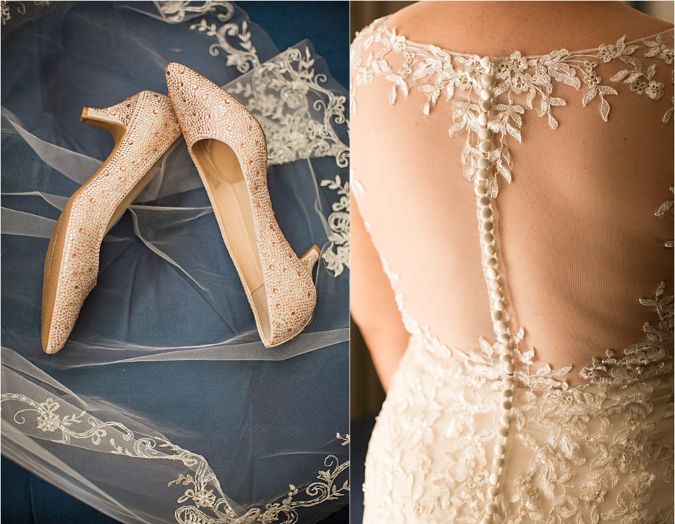 Bridal details at Z Mansion in Tucson, Arizona