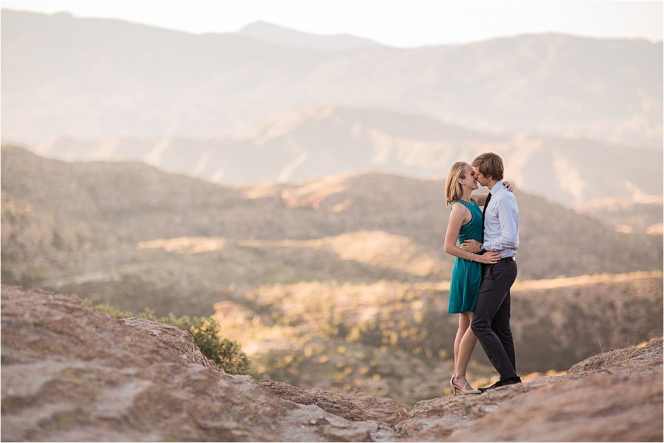 Mount Lemmon Engagement at Sunrise,  at Windy Point, Tucson, Arizona