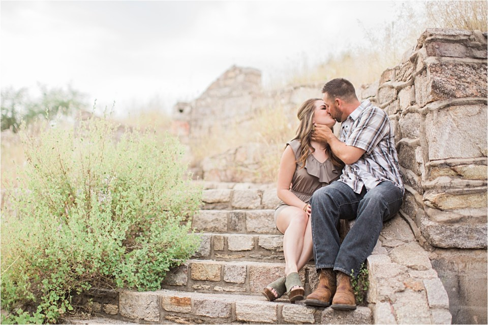 Engagement shoot on Mount Lemmon with Amber Lea Photography