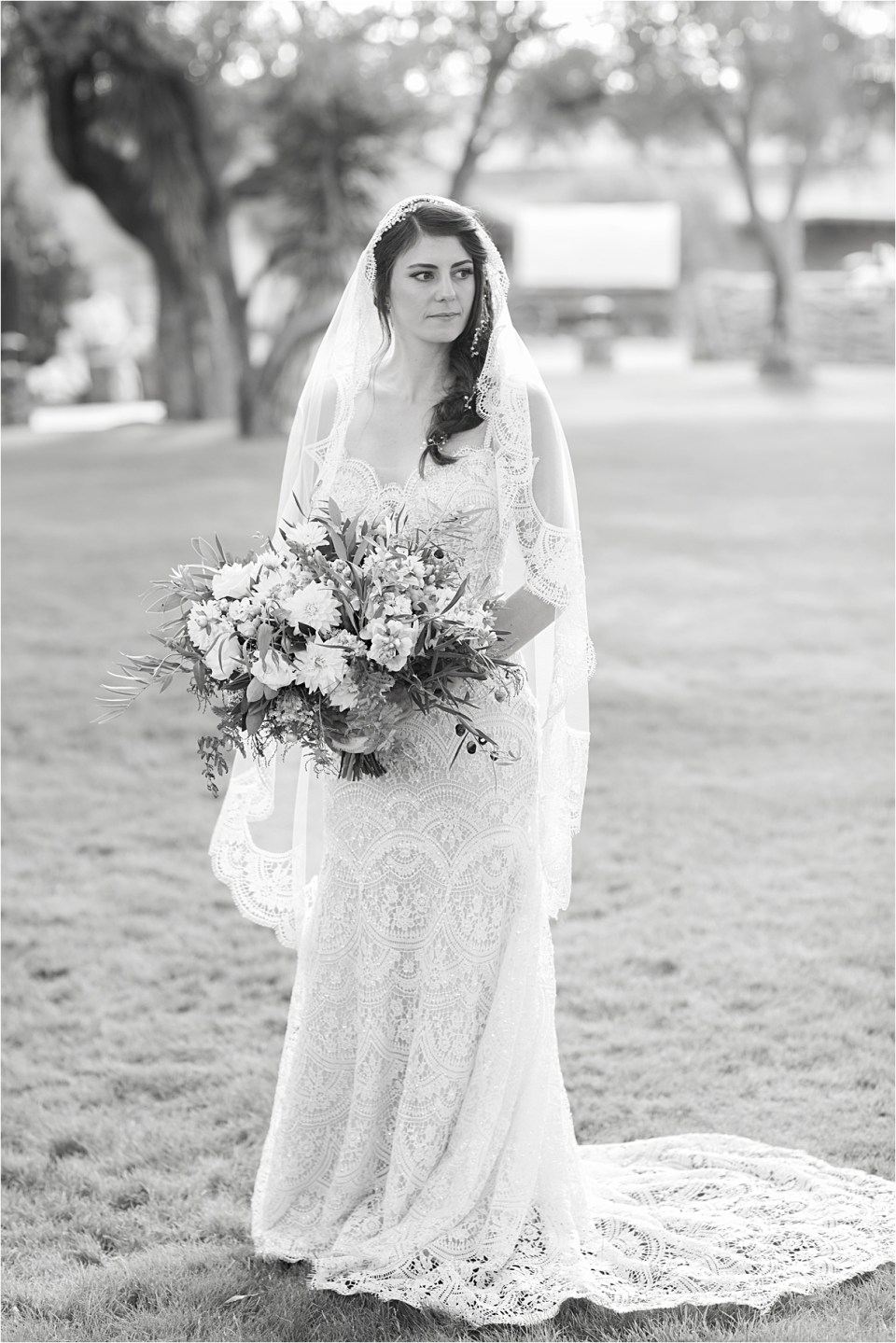 Bride at Tanque Verde Ranch Wedding