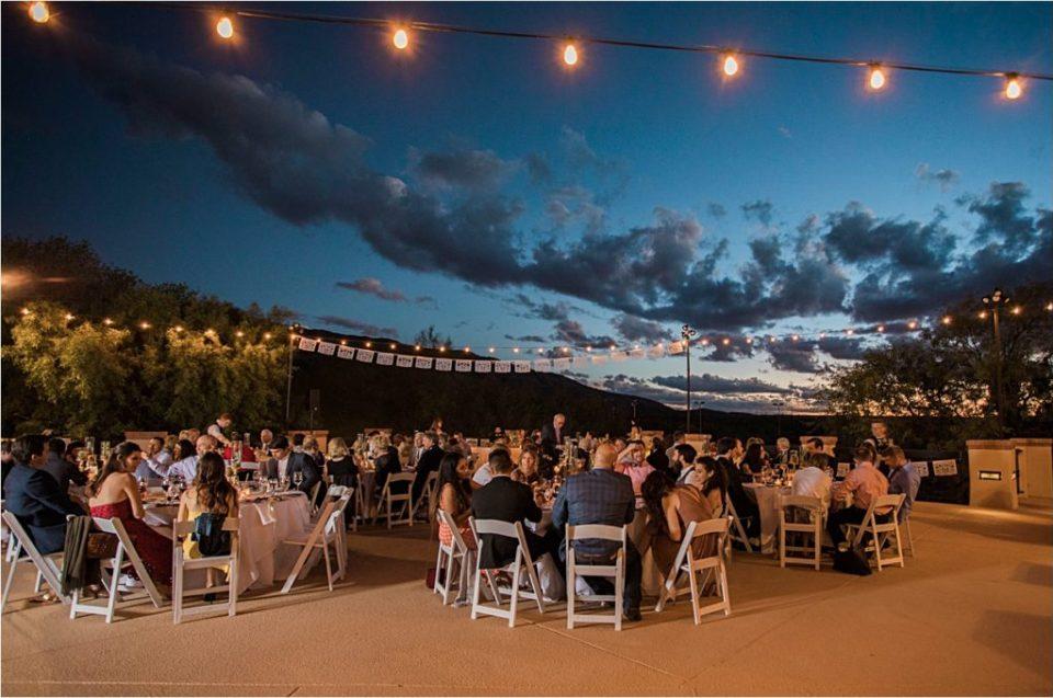Dinner reception at Tanque Verde Ranch Wedding.