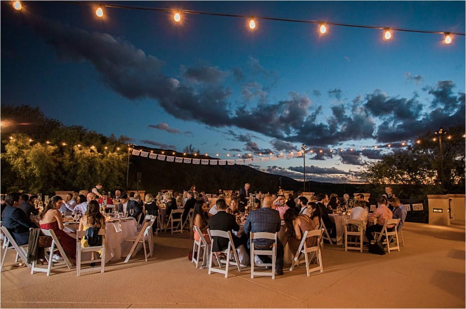 Dinner reception at Tanque Verde Ranch Wedding.