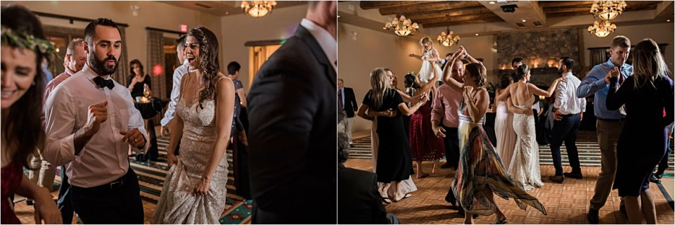 Reception Dancing at Tanque Verde Ranch Wedding.
