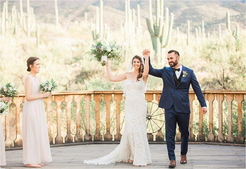 Wedding Ceremony at Tanque Verde Ranch.