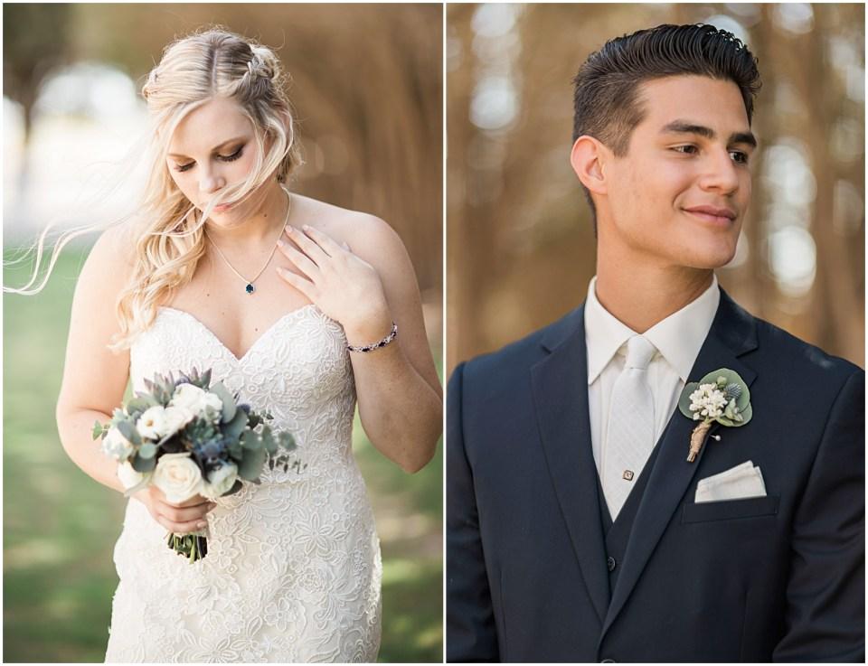 Tucson DIY Backyard Wedding Couple.