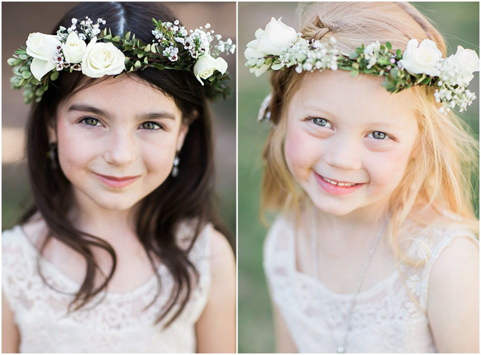 Tucson DIY Backyard Wedding Flower Girls.