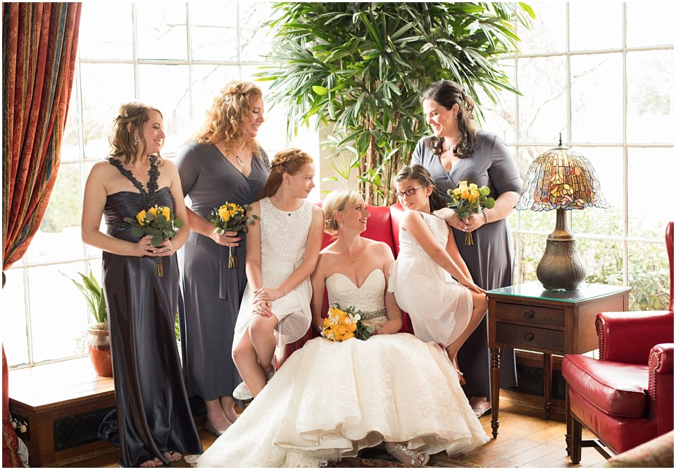 Bridal party portrait at Historical Arizona Inn, Tucson, Arizona
