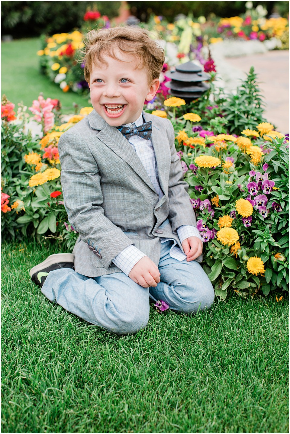 Ring bearer portrait at Historical Arizona Inn, Tucson, Arizona