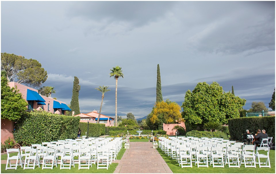Ceremony site at Historical Arizona Inn, Tucson, Arizona