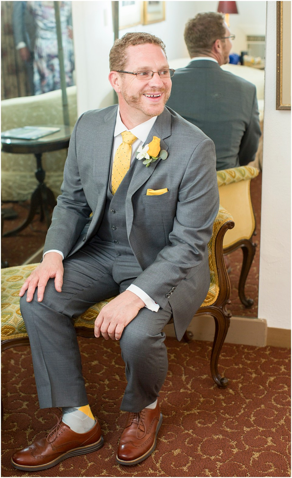 Groom Portrait at Historical Arizona Inn, Tucson, Arizona