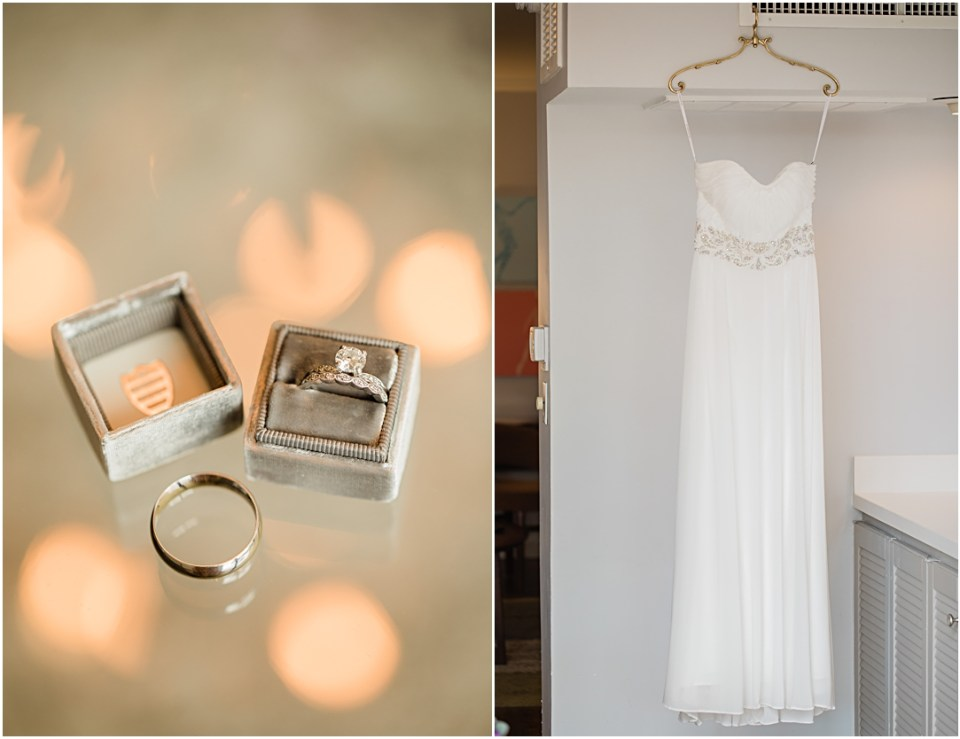 Wedding details at Town and Country Hotel in San Diego.