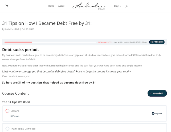 31 Tips on How I Became Debt Free by 31 1