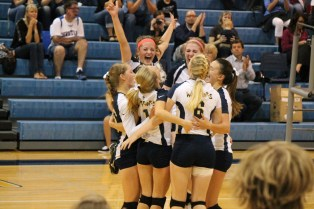 Celebrating after a point