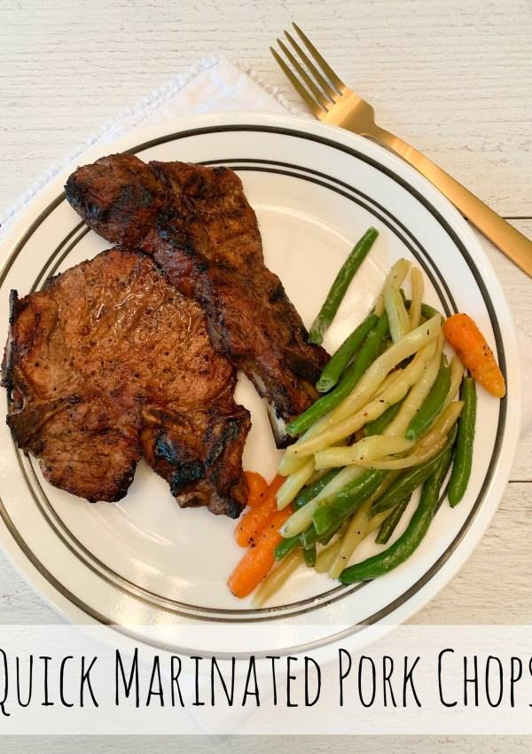 Grilled Pork Chops & Steamed Veggies!