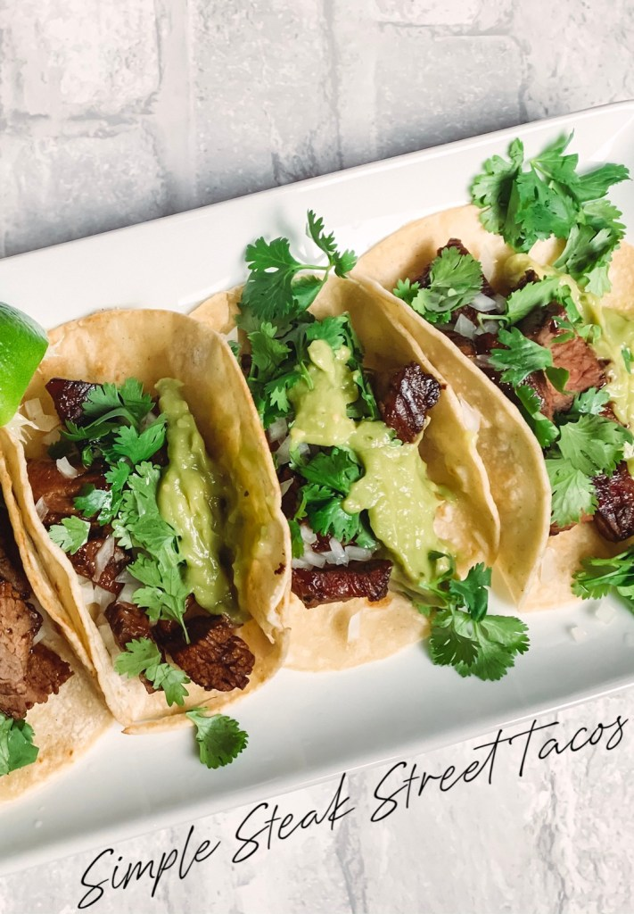Who doesn't love a good plate of steak street tacos!? They are so simple but so full of flavor and your own version can be made at home!