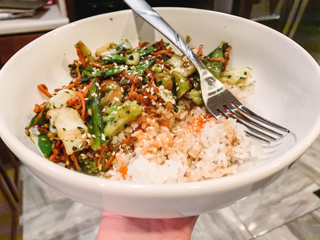 The first two weeks of my vegetarian lifestyle consisted of a lot of stir-fry. It's an easy and delicious vegetarian option!