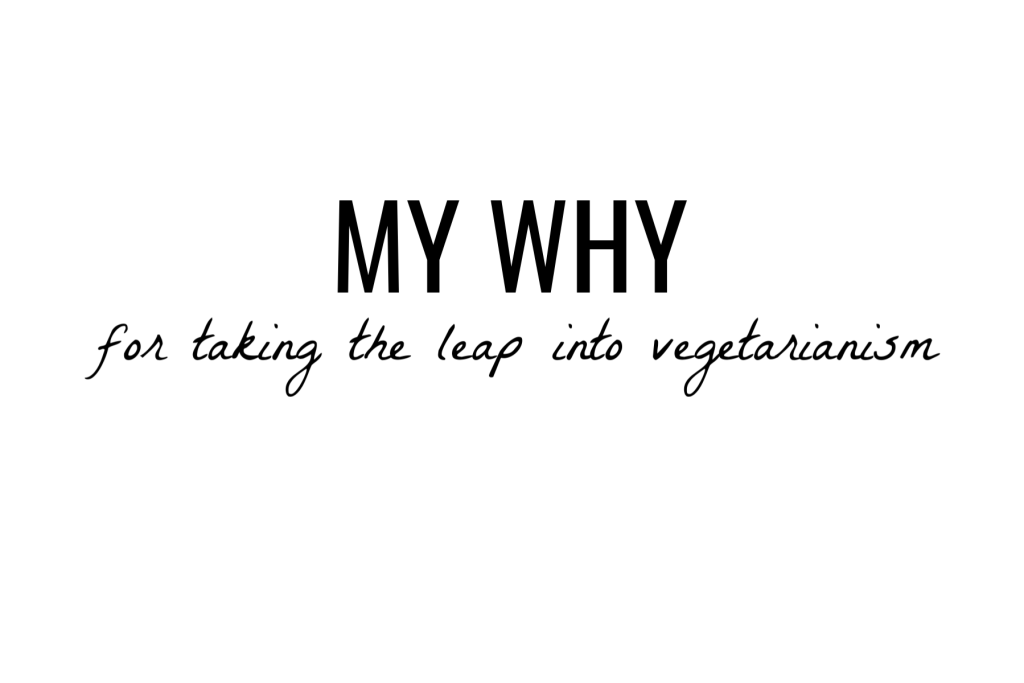 My why for going vegetarian!