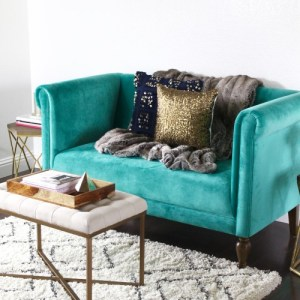 My Favorite Emerald Loveseat