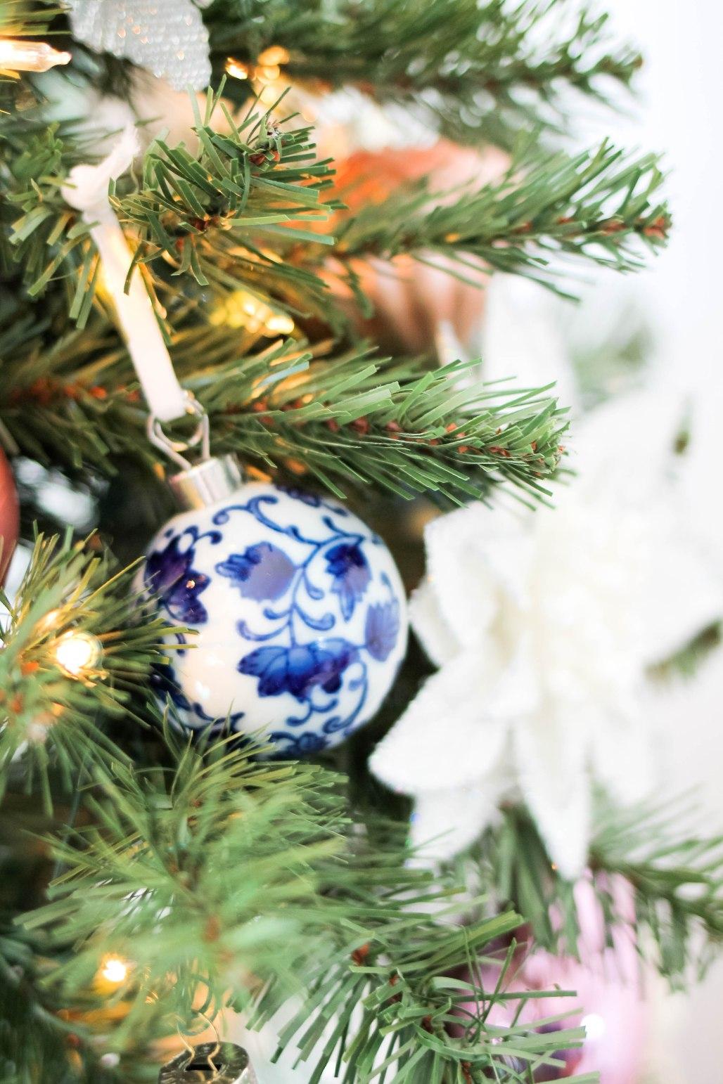 Williams Sonoma Ceramic Ornaments-Holiday Home Tour 2017 - amberpizante.com