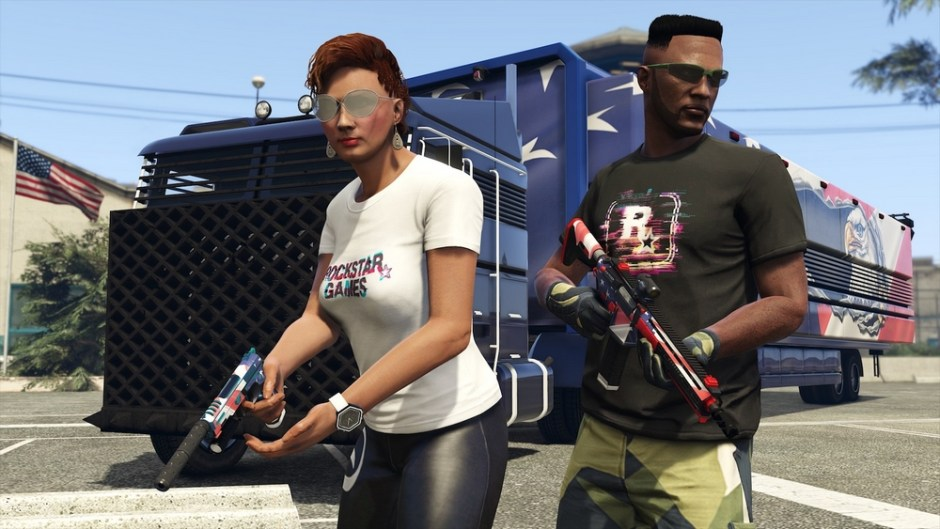 Two customised players in GTA: Online