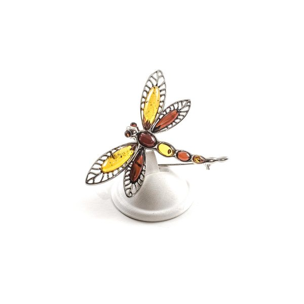 silver-brooch-with-natural-baltic-amber-dragonflyII-sideview