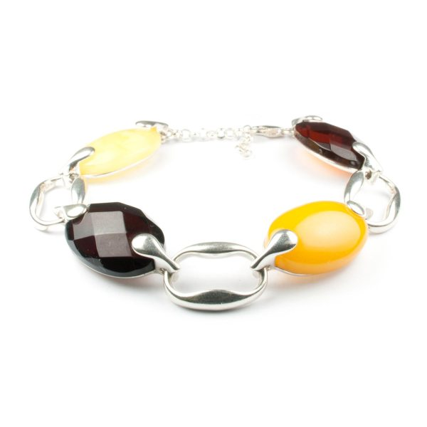 silver-chain-bracelet-with-natural-baltic-amber-fashion