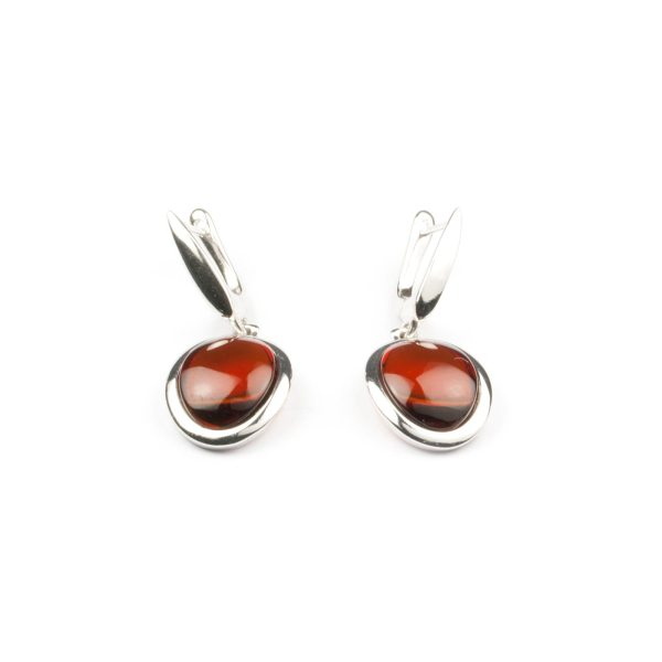 silver-earrings-with-cherry-natural-amber-stone-paris
