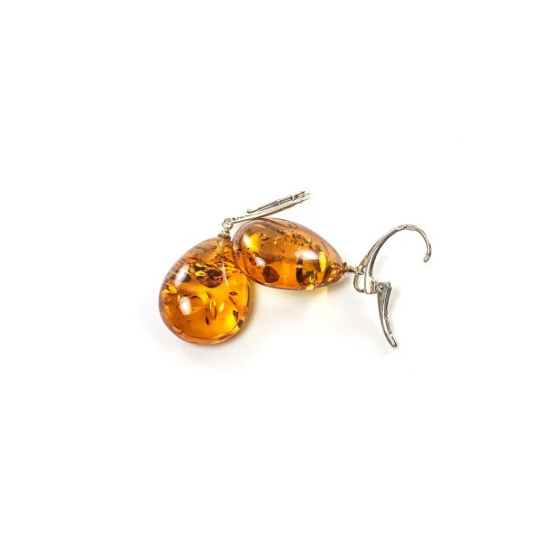 silver-earrings-with-natural-baltic-amber-raindrops