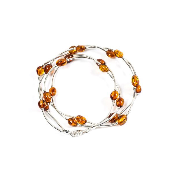 silver-necklace-with-natural-baltic-amber-upperview