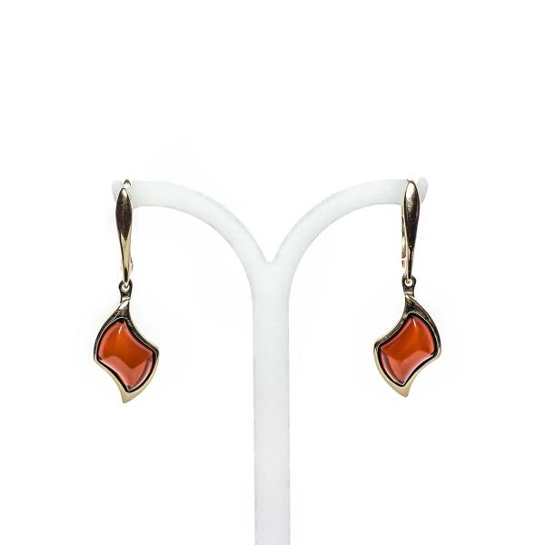 gold-earrings-14k-with-natural-baltic-amber-beau-monde-cherry-2