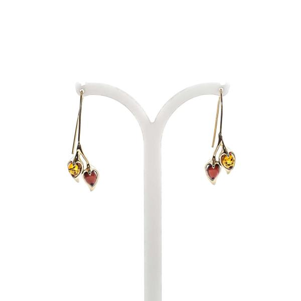 gold-earrings-14k-with-natural-baltic-amber-couple-2