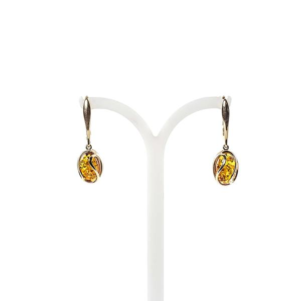 gold-earrings-14k-with-natural-baltic-amber-orange-2