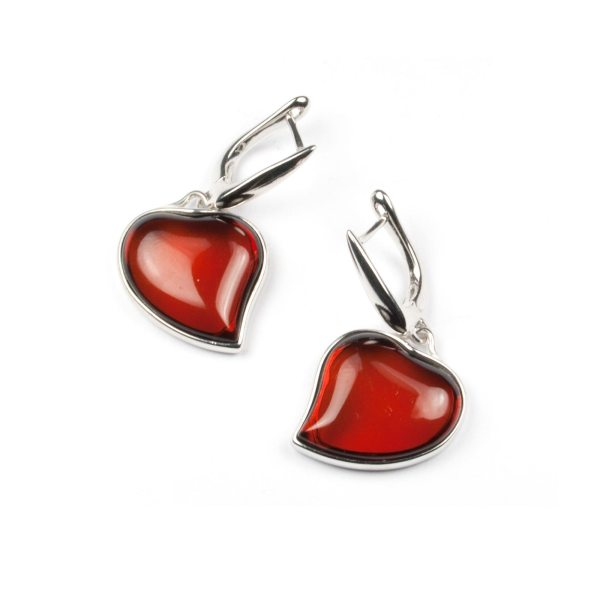 silver-earrings-with-cherry-natural-baltic-amber-two-hearts-1