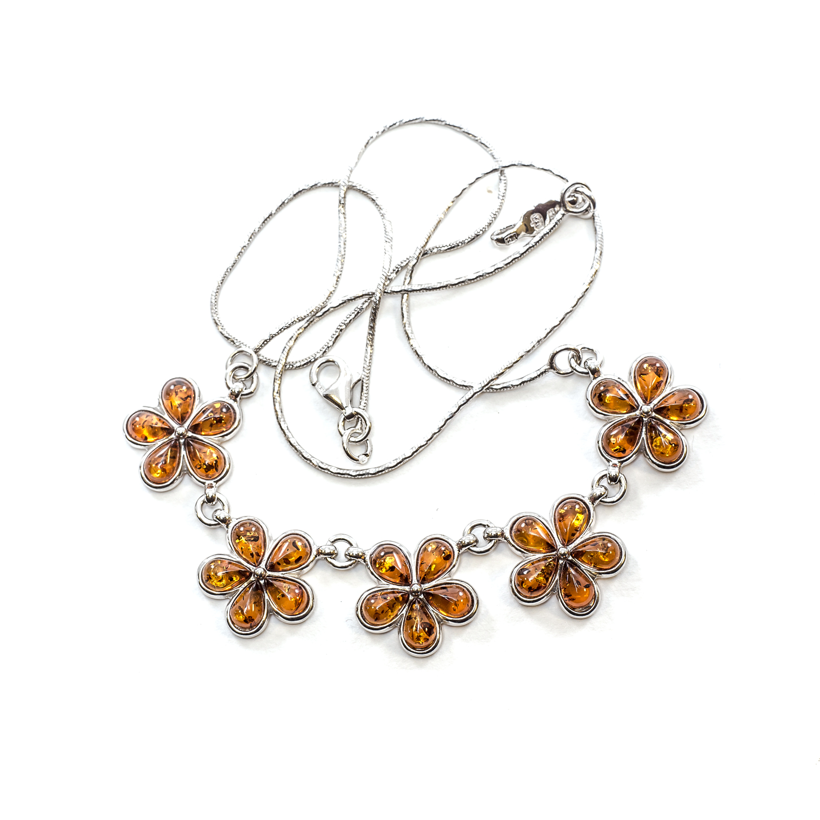 d09f70f89 Silver Necklace with Natural Baltic Amber