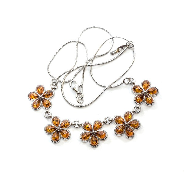 silver-necklace-with-baltic-amber-flower-cognac-1