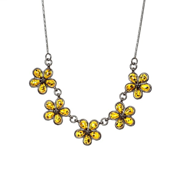 silver-necklace-with-baltic-amber-flower-cognac-2