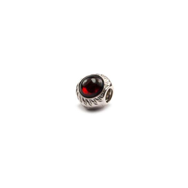 Cherry Amber Charm Beads Side