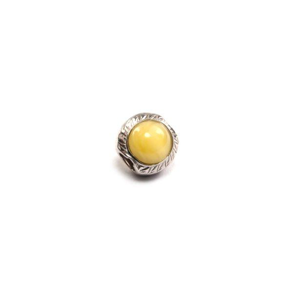 Yellow Amber Charm Beads Side