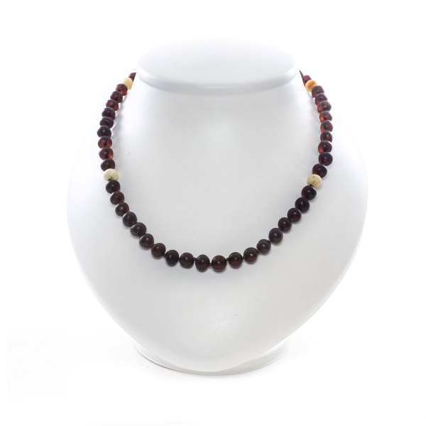 Unpolished Cherry Amber Necklace