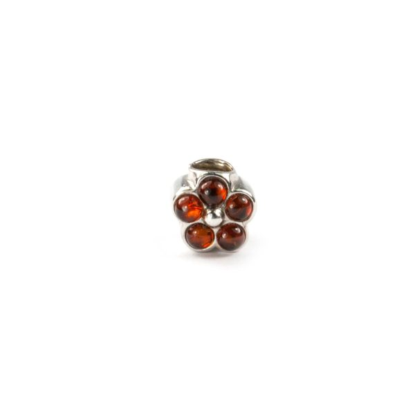 Pandora Silver Charm With Amber
