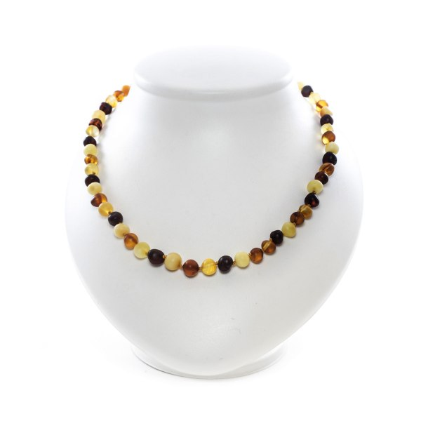 Unpolished Multi Color Amber Necklace