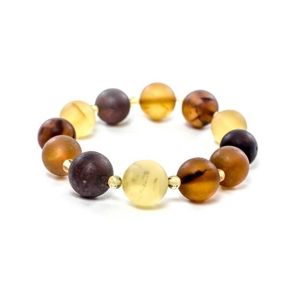 13mm. Unpolished Amber Bracelet