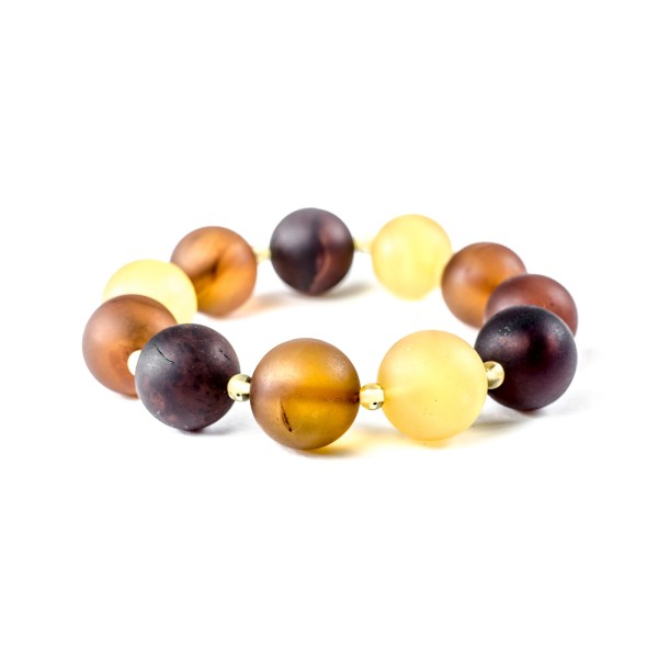 Unpolished Multicolor Amber Bracelet