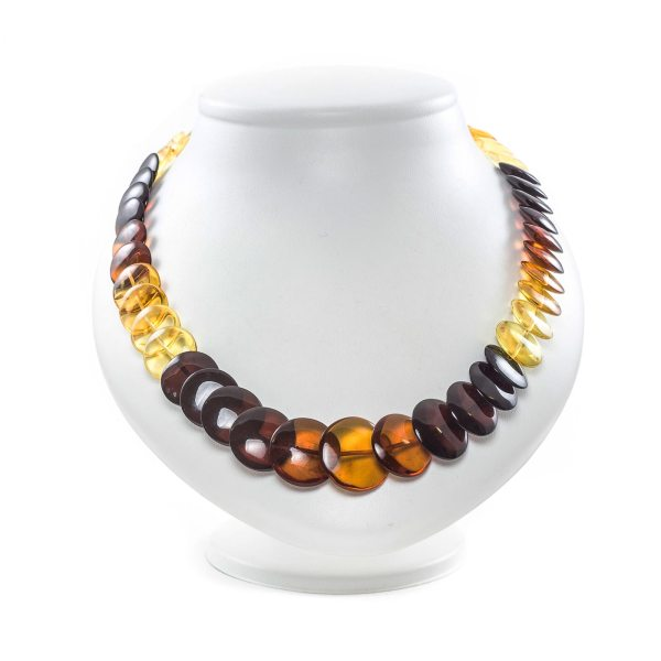 Natural Amber Necklace Rainbow