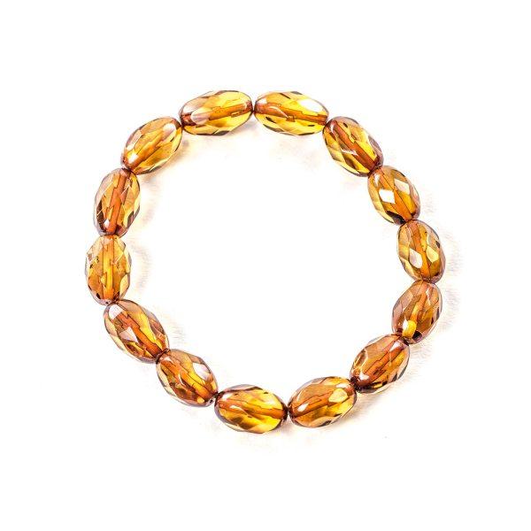 Faceted Cognac Bracelet Top