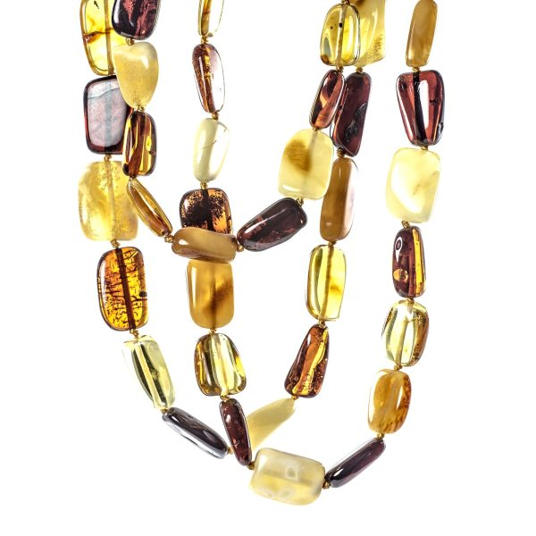 Long Amber Necklace Side View