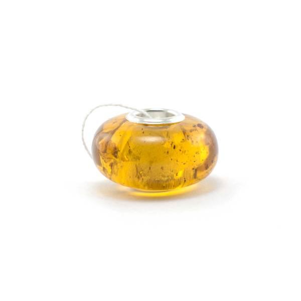 Amber Charm Cognac Bead Side 2